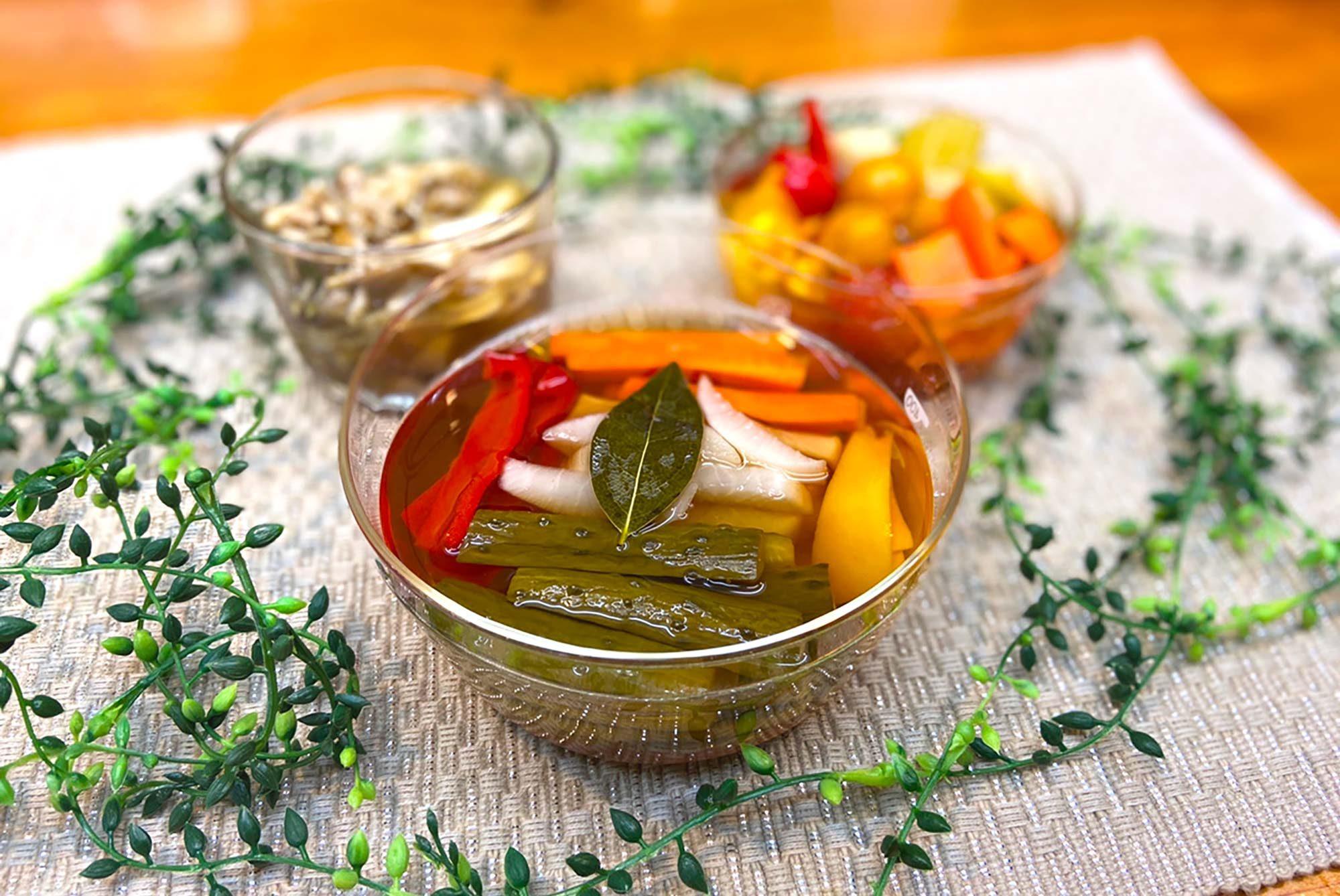10分でできる、簡単おしゃれピクルスのススメ。新鮮野菜でリフレッシュ